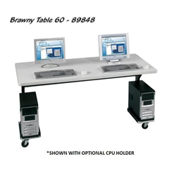 "25.5-33.5""H x 60""W Brawny Mobile Table/Workstation with Gray Laminate - 89848 Balt,89848Gray"