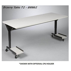 "25.5-33.5""H x 72""W Brawny Mobile Table/Workstation with Gray Laminate - 89862 Balt,89862Gray"