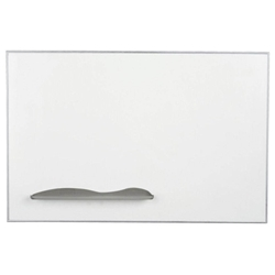 6W x 4H Ultra Trim Porcelain Steel Magnetic Whiteboard with Silver Trim