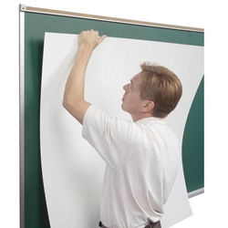 "16w x 4h Porcelain Steel Skins Self-Adhesive Whiteboard 1/2"" Skins"