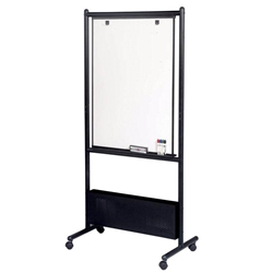 "31.5"" W x 41"" H Nest Easel-Porcelain Steel Magnetic Whiteboard with Black Steel Frame"