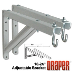"Draper 18"" to 24"" Adjustable Wall Bracket Set"
