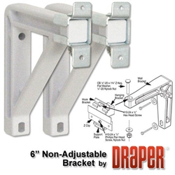 "Draper White 6"" Wall Bracket Set for Silhouette"