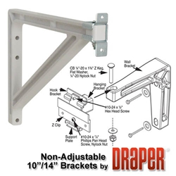 "Draper 1"" to 14"" Adjustable Wall Bracket Set for Silhouette"