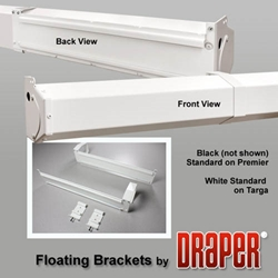 Draper Black Floating Screen Bracket