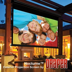 Nocturne/Series C - 32x57 (65 Diag.) Projector Screen, HDTV Format, Contrast Grey Fabric Projector Screens,Draper,200502,Manual,Pulldown,Nocturne/Series C