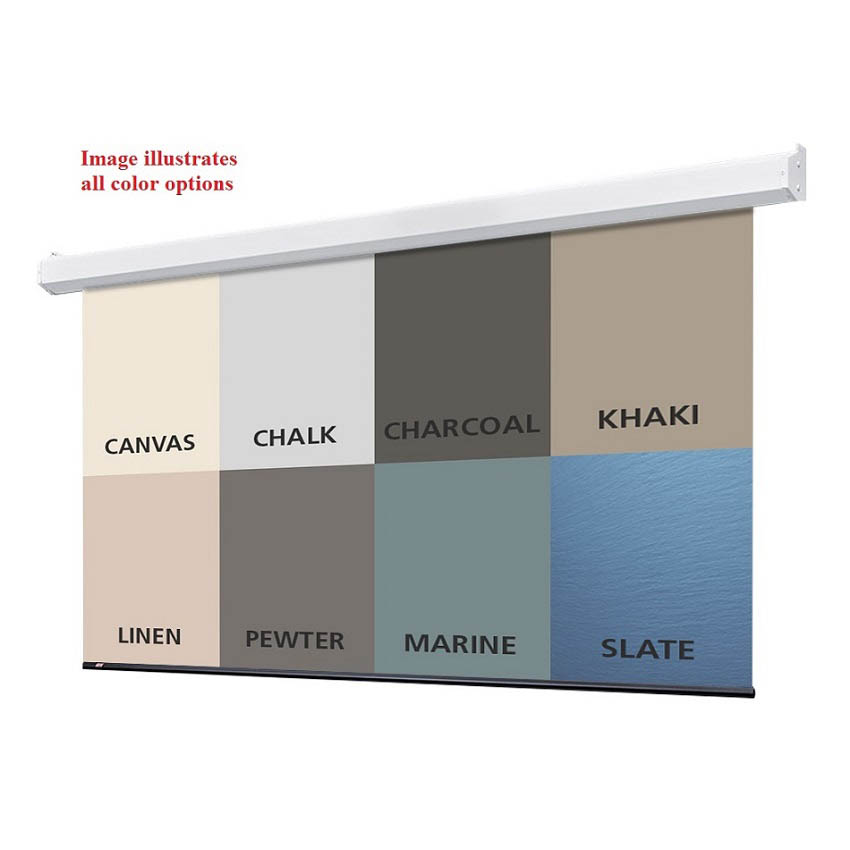 Draper Targa Electric Projector Screen with Solid Color Background