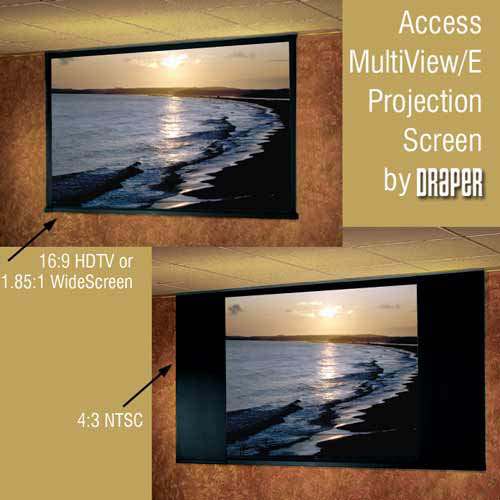 Draper Access MultiView Electric Projector Screen