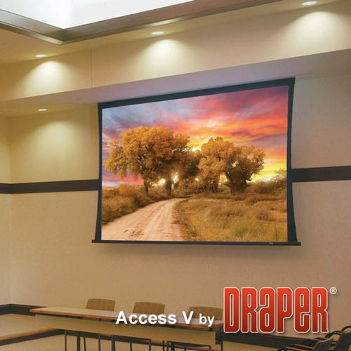 Draper Access Ceiling Recessed Tensioned Electric Projector Screen