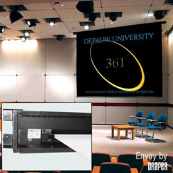 Envoy 105x140 (175 Diag.) Electric Projector Screen, Video Format, Matt White Fabric Projector Screen,Draper,112019,Electric,Envoy,Ceiling Recessed,Motorized