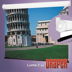 Luma 2 - 12%27x12%27 (204 Diag.) Manual Projector Screen, Square Format, Matt White Fabric Projector Screens,Draper,206012,Manual,Pulldown,Luma 2