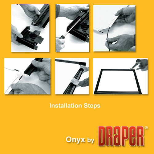 Draper Onyx 65x116 (133 Diag ) Fixed Frame Projector Screen, HDTV Format,  Cineflex Fabric