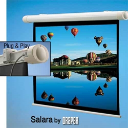 Draper Salara Plug & Play Projector Screen