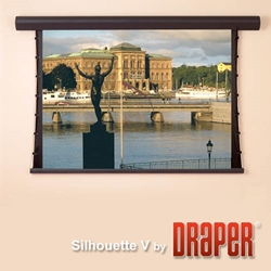Draper Silhouette Electric Tensioned Projector Screen