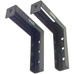 "6"" Extended ""L"" Bracket Set for VMAX/Manual/Spectrum Series - Black Elite Screens,ZVMAXLB6-B,L Bracket"
