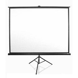 "Tripod Series 71"" Diag. (50x50) Portable Projector Screen, Square Format, MaxWhite Fabric Elite Screens,T71UWS1,Tripod Projector Screen,Portable Tripod,Manual Tripod Screen"