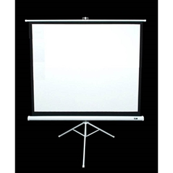"Tripod Series 71"" Diag. (50x50) Portable Projector Screen, Square Format, MaxWhite Fabric Elite Screens,T71NWS1,Tripod Projector Screen,Portable Tripod,Manual Tripod Screen"