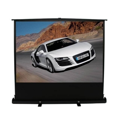 "ezCinema Plus Series 100"" Diag. (49x87) Portable Floor Rising Screen, HDTV Format, MaxWhite Fabric Elite Screens,F100XWH1,Floor Rising Projector Screen,ezCinema Plus,Portable Screen"