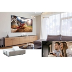 "Epson EpiqVision LS500 UST 4K 120"" Laser TV Projection System - White Projector"