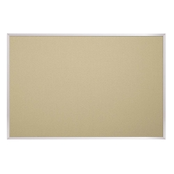 Best-Rite 332AF Fabric Add-Cork Tackboard with Aluminum Trim