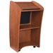 612 - Vision Series Full Floor Lectern with LCD Monitor and 2 Shelves - Cherry - 612-Cherry