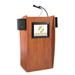 612S - Vision Series Full Floor Lectern with LCD Monitor and Sound System - Cherry - 612S-Cherry