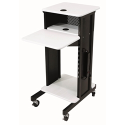 PRC-200 - AV Multimedia Presentation Cart with 4 Shelves and 6-Outlet Powerstrip Oklahoma Sound,PRC-200,Presentation Cart,Multimedia