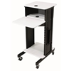 PRC-200 - AV Multimedia Presentation Cart with 4 Shelves and 6-Outlet Powerstrip