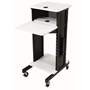 PRC200 - AV Multimedia Presentation Cart with 4 Shelves and 6-Outlet Powerstrip Oklahoma Sound,PRC200,Presentation Cart,Multimedia