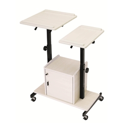 PRC-300 - AV Multimedia Presentation Cart with Dual Height Adjusting/Tilting Tops and Cabinet Oklahoma Sound,PRC-300,Presentation Cart,Height Adjusting