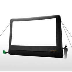 Open Air Cinema Home 23%27 Diag. (20%27x11%27) Portable Inflatable Projector Screen