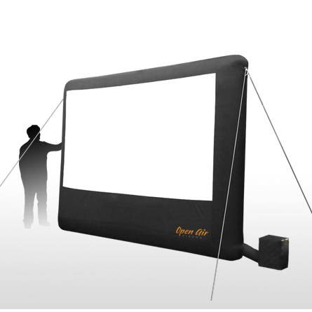 Open Air Cinema H 9 123 Diagonal 9 X 5 Portable Inflatable Home Projection Screen