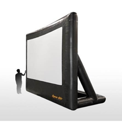 "Open Air Cinema Pro 166"" Diag. (12x7) Portable Inflatable Projector Screen"