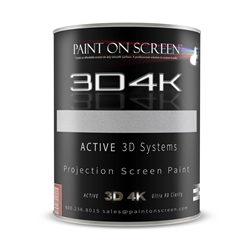 Projector Screen Paint - 3D4K Silverish Light Grey with 1.8 Gain-HD 1080P,3D Capable and 4K Ready-Gallon
