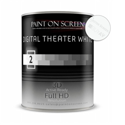 DIGITAL THEATER WHITE Projector Screen Paint with 1.4 Gain - Gallon Paint on Screen,Projector Screen,Paint,Digital,Theater White,Screen Paint