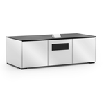 Salamander Designs Miami 237S EPS Cabinet for integrated Epson UST Projector - Gloss White, Black Top - X3/EPS2/237S/MM/GW/BK