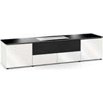 Salamander Designs Miami 245 Cabinet for integrated LG UST Projector - Gloss White, Black Top - X/LG1/245GW/BK